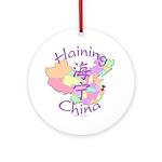 Haining China Map Ornament (Round)
