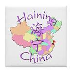 Haining China Map Tile Coaster
