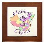Haining China Map Framed Tile
