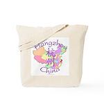 Hangzhou China Map Tote Bag