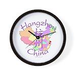 Hangzhou China Map Wall Clock