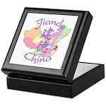 Jiande China Map Keepsake Box