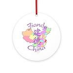 Jiande China Map Ornament (Round)