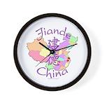 Jiande China Map Wall Clock