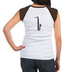 Woodcut Saxophone Women's Cap Sleeve T-Shirt