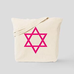 Pink Star of David Tote Bag