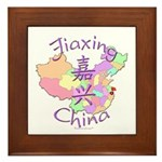 Jiaxing China Map Framed Tile