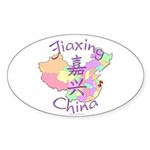 Jiaxing China Map Oval Sticker (10 pk)