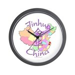 Jinhua China Map Wall Clock