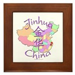 Jinhua China Map Framed Tile