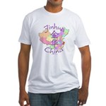 Jinhua China Map Fitted T-Shirt