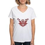 True Love Waits Women's V-Neck T-Shirt