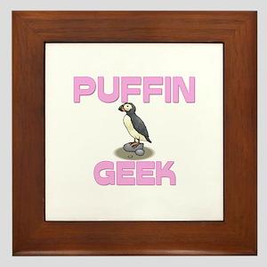 Puffin Geek Framed Tile