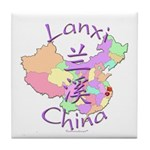 Lanxi China Map Tile Coaster