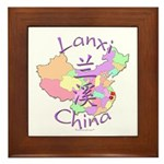 Lanxi China Map Framed Tile