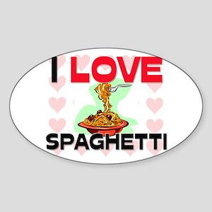 I Love Spaghetti Oval Sticker