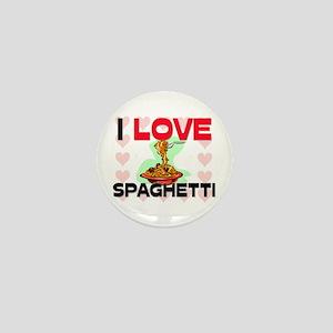 I Love Spaghetti Mini Button