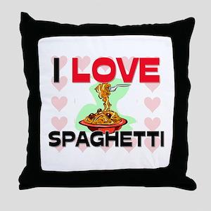 I Love Spaghetti Throw Pillow