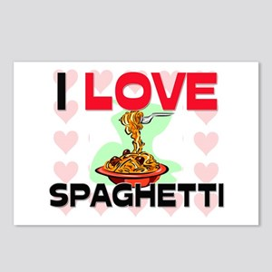 I Love Spaghetti Postcards (Package of 8)
