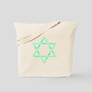 Sea Green Star of David Tote Bag