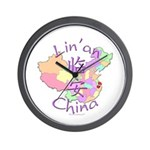 Lin'an China Map Wall Clock