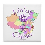 Lin'an China Map Tile Coaster