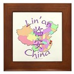 Lin'an China Map Framed Tile