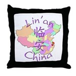 Lin'an China Map Throw Pillow