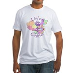 Lin'an China Map Fitted T-Shirt