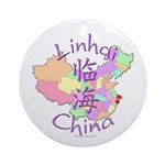 Linhai China Map Ornament (Round)