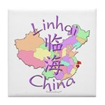 Linhai China Map Tile Coaster