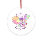 Lishui China Map Ornament (Round)