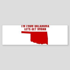 OKLAHOMA SHIRTS, FUNNY OKLAHO Bumper Sticker