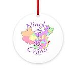 Ningbo China Map Ornament (Round)
