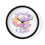 Ningbo China Map Wall Clock