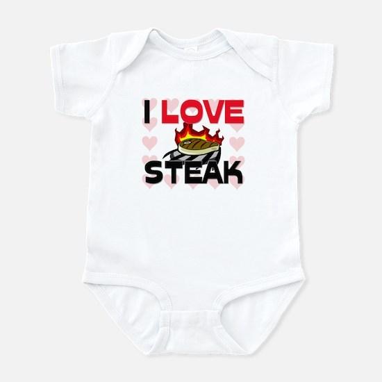 I Love Steak Infant Bodysuit