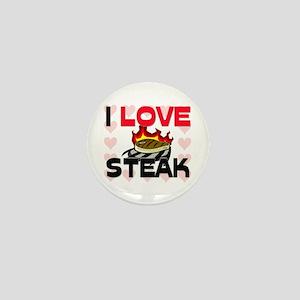 I Love Steak Mini Button