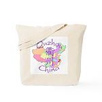 Quzhou China Map Tote Bag