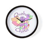 Quzhou China Map Wall Clock