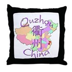 Quzhou China Map Throw Pillow