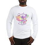 Quzhou China Map Long Sleeve T-Shirt