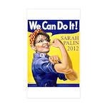 Sarah Palin We Can Do It Rectangle Sticker 10 pk)