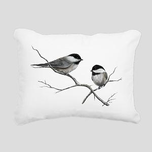 chickadee song bird Rectangular Canvas Pillow