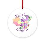 Taizhou China Map Ornament (Round)