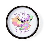Taizhou China Map Wall Clock