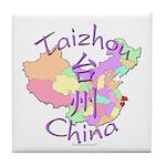 Taizhou China Map Tile Coaster