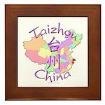 Taizhou China Map Framed Tile