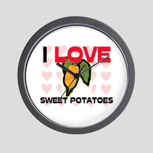 I Love Sweet Potatoes Wall Clock