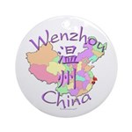 Wenzhou China Map Ornament (Round)