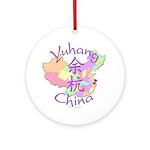 Yuhang China Map Ornament (Round)